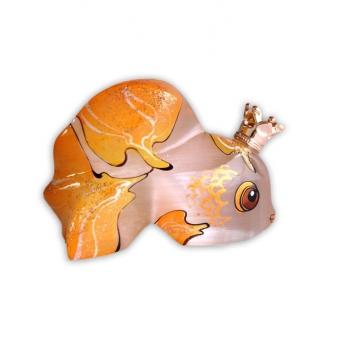 Золотая Рыбка с короной малая №3